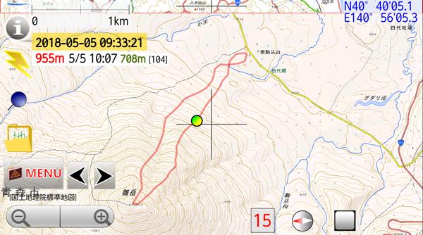 GPSアプリ 軌跡の画像