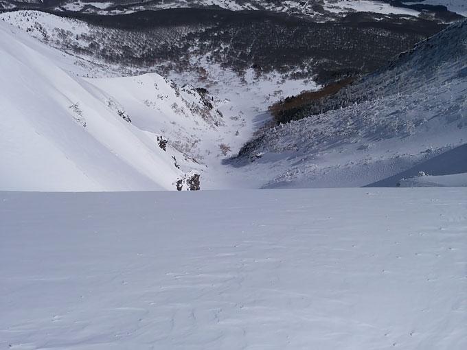 滑る斜面が見えない写真