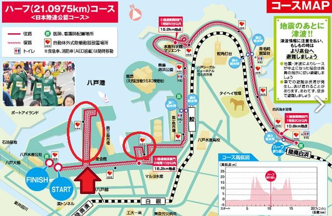 うみねこマラソンのコース図