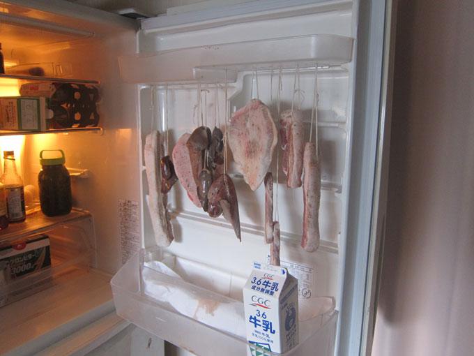 冷蔵庫で乾燥する