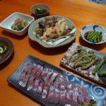 源流釣り当日の夕食
